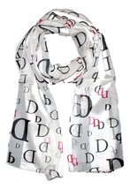 Recyclebabe Women's Initial Scarf D Ivory One Size - $14.73