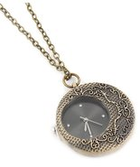 Watch Pendant Necklace Z2 Crystal Textured Burn... - $29.58