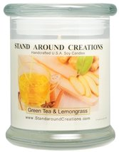 Premium 100% Soy Candle - 12 oz. Status Jar -Green Tea and Lemon Grass: ... - €17,57 EUR