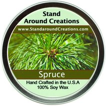 Premium 100% All Natural Soy Candle - 8 oz Tin Spruce - Capture the spir... - $10.99