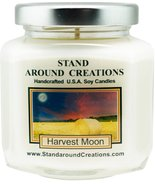 Premium 100% Soy Candle - 6 - oz. Hex Jar- Harvest Moon - Fresh pear, blueber... - $12.99