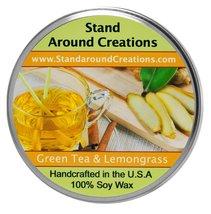 Premium 100% Soy Tureen Candle - 3 oz. -Green Tea and Lemon Grass: Brigh... - $9.99
