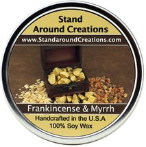 Premium 100% All Natural Soy Candle - 16 oz.Tin: Frankincense And Myrrh:... - $16.99