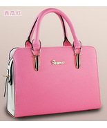 Mixed Color Women Shoulder Bags Leather Handbags Tote Bags C069-1 - $39.00