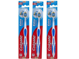 Colgate Extra Clean Toothbrush, Soft Full Head - Colors Vary (Pack of 3) - $5.93