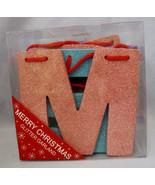 "Merry Christmas Banner Garland Hobby Lobby Pastel Colors Glitter 4.5""  L... - $22.95"