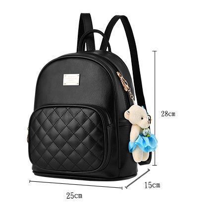 Medium Students School Backpacks Leather Bookbags,Backpacks D073-1 image 2