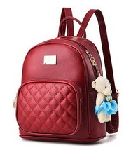 Medium Students School Backpacks Leather Bookbags,Backpacks D073-1 image 4