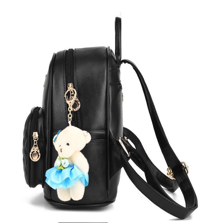 Medium Students School Backpacks Leather Bookbags,Backpacks D073-1 image 8