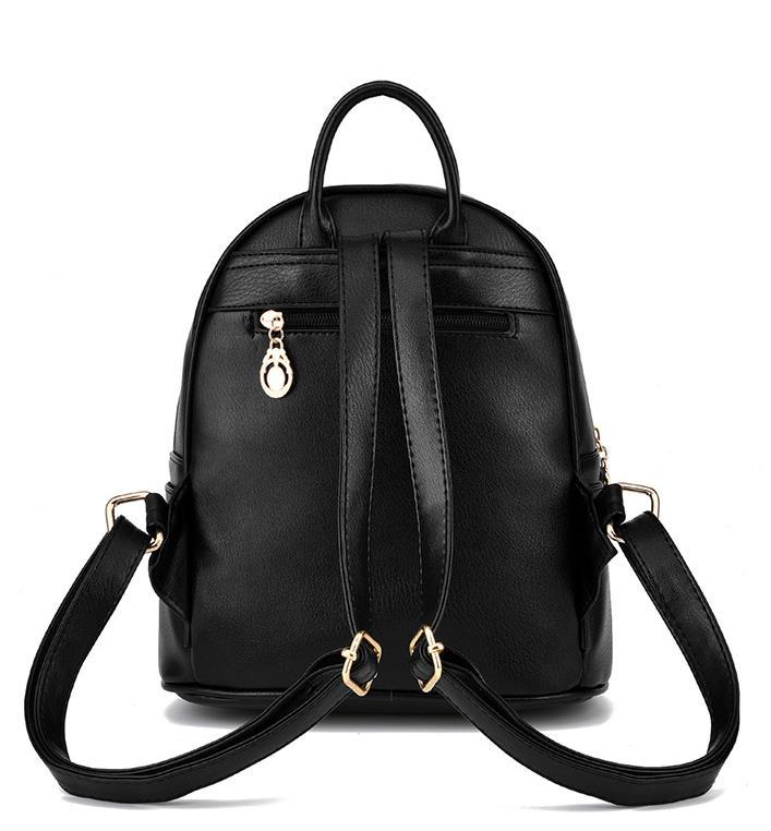Medium Students School Backpacks Leather Bookbags,Backpacks D073-1 image 9