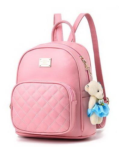 Medium Students School Backpacks Leather Bookbags,Backpacks D073-1 image 14