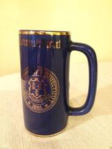 Pre-1963 University of Connecticut UCONN Mug W.C. Bunting Blue & Gold Cr... - $39.59