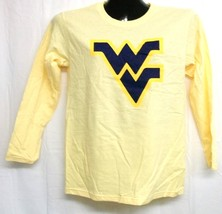 West Virginia Mountaineers Yellow Long Sleeve Shirt Small - $13.99
