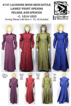 Ladies Pelisse Coat & Spencer Jacket c.1810-1825 Sewing Pattern Only Lmm137 - $18.00