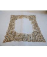 Antique Lace Embroidery Collar Hand Made Victorian Dress Trim Ecru - $34.65