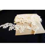 """VTG antique hand made cotton white Lace Trim 2.5"""" wide 5.33 yards - $64.35"""