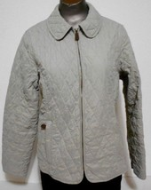 LL Bean Womens Size M Pet. Sage Green Quilted Zippered Jacket - $15.10