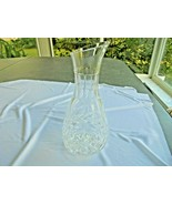 "Handcrafted Crystal 11"" Tall Open Carafe made in Yugoslavia - $19.80"