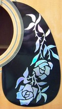 Guitar Pick Guard Decal Vine of  Roses Decal /Sticker Dress up your old ... - $3.99