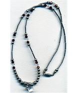 Silver Crystal Necklace - $3.30