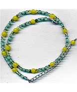 Yellow Green Opal Glass Necklace 1 - $3.30