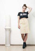 90s vintage vanilla denim skirt - $27.86