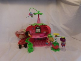 STRAWBERRY SHORTCAKE BERRY house Cafe + Swing set + Plush Doll + Twirlin... - $45.91