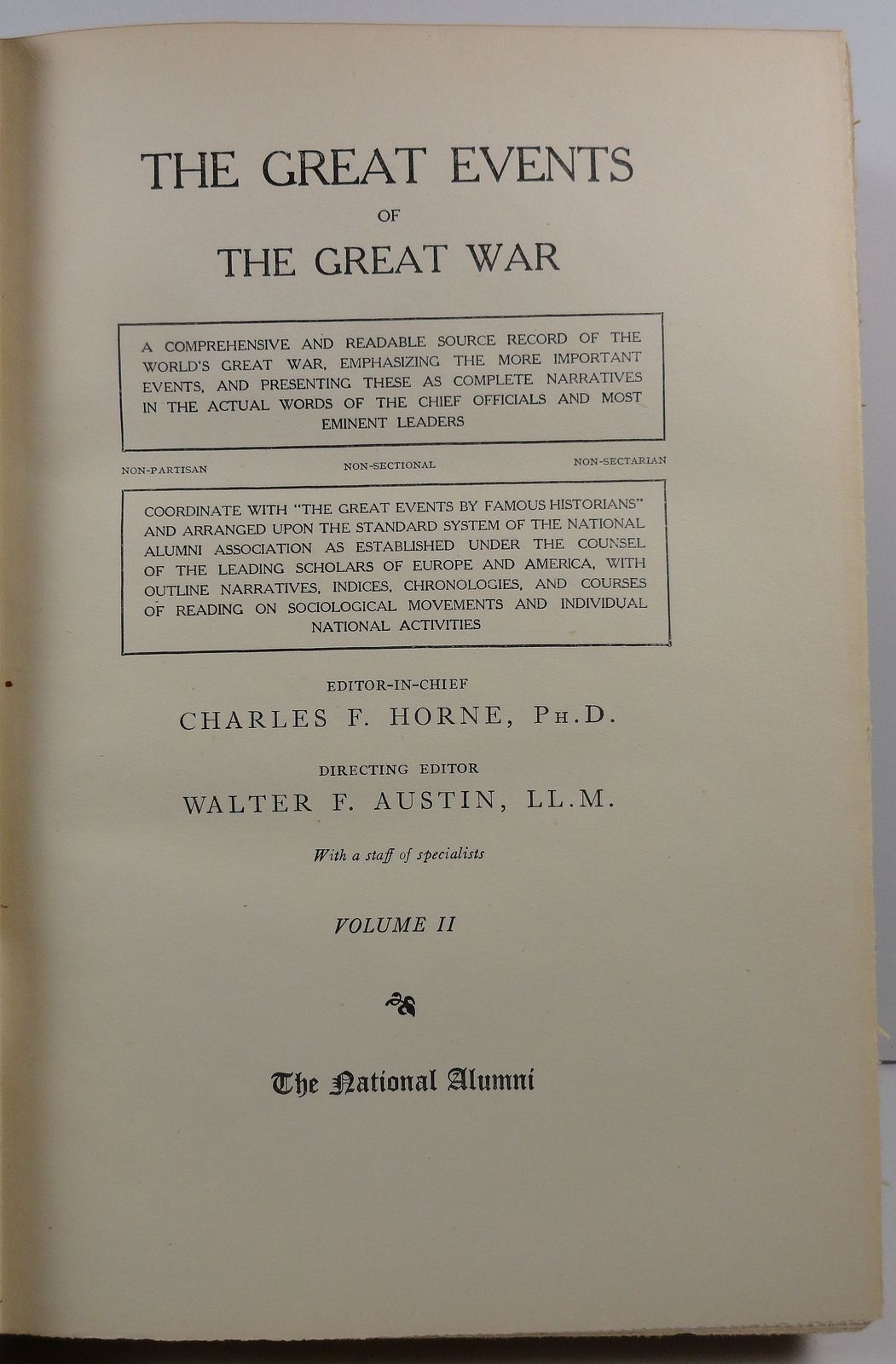 The Great Events of The Great War Charles F. Horne Vol II