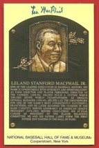 Lee  MacPhail   HAND  SIGNED   AUTOGRAPHED   HALL  OF  FAME  PLAQUE   PO... - $24.99