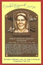 PHIL  RIZZUTO   HAND  SIGNED   AUTOGRAPHED   HALL  OF  FAME  PLAQUE   PO... - $39.99