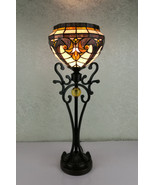 Tiffany Style Stained Glass Baroque Multi-Color Table Lamp,10'' X 27''H. - $173.25