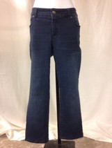 Chicos So Slimming Jeans Size 0 Short Hemmed Dark Wash - $19.78