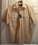 New Men's Bruno Size L Button Down Shirt Sand Brown NWT  - $24.95
