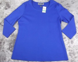New Karen Scott Jersey Top Layering T-Shirt Large 3/4 Sleeve Scoop Neck ... - $14.84