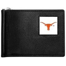 ut austin texas longhorns logo ncaa college emblem leather bill clip wallet - $33.24