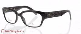 Christian Dior Women's Eyeglasses CD3262 D28 Black Silver Rectangular Frame - $121.24