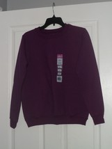 Gildan Smart Basics Ladies Sweatshirt Size S Purple Crew Neck Nwt - $15.99