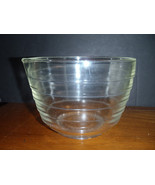 Vintage Pyrex Clear Glass Beehive Ribbed Mixing Bowl Spout Westinghouse #19 - $23.08