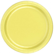 "72 Plates 6 7/8"" Paper Dessert Plates Wax Coated - Yellow - $12.82"
