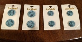 Atomic Geometric Aqua 8 Buttons by La Mode New ... - $14.67