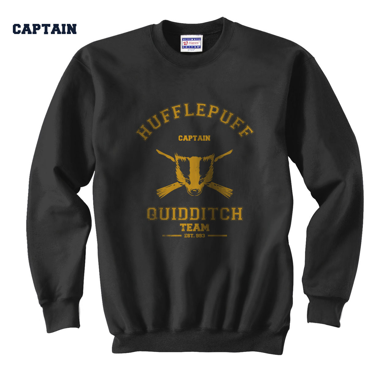 Hufflepuf captain sewat black  2