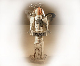 Inspirational Spindle Angel Called Peace - $8.99