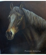 Custom horse portrait, Oil painting on canvas, Horse head paintng, Horse... - $590.00