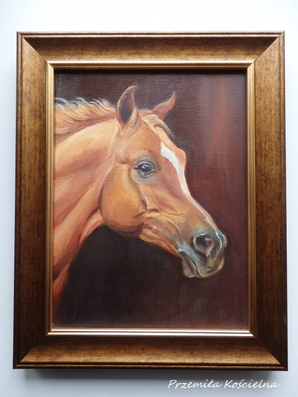 Custom horse portrait, Oil painting on canvas, Horse head ...