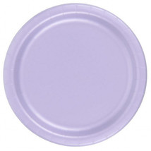 "72 Plates 6 7/8"" Paper Dessert Plates Wax Coated - Lavender - $12.82"