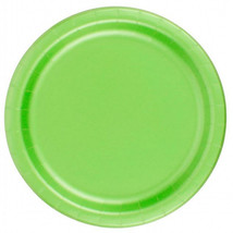 "72 Plates 6 7/8"" Paper Dessert Plates Wax Coated - Citrus Green - $12.82"