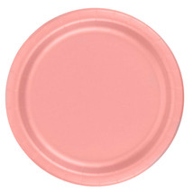 "72 Plates 6 7/8"" Paper Dessert Plates Wax Coated - Rose - $12.82"