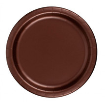 "72 Plates 6 7/8"" Paper Dessert Plates Wax Coated - Brown - $12.82"