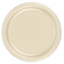 "72 Plates 6 7/8"" Paper Dessert Plates Wax Coated - Ivory - $12.82"