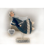 Inspirational Gather Hope Angel in Wood and Metal - $13.95